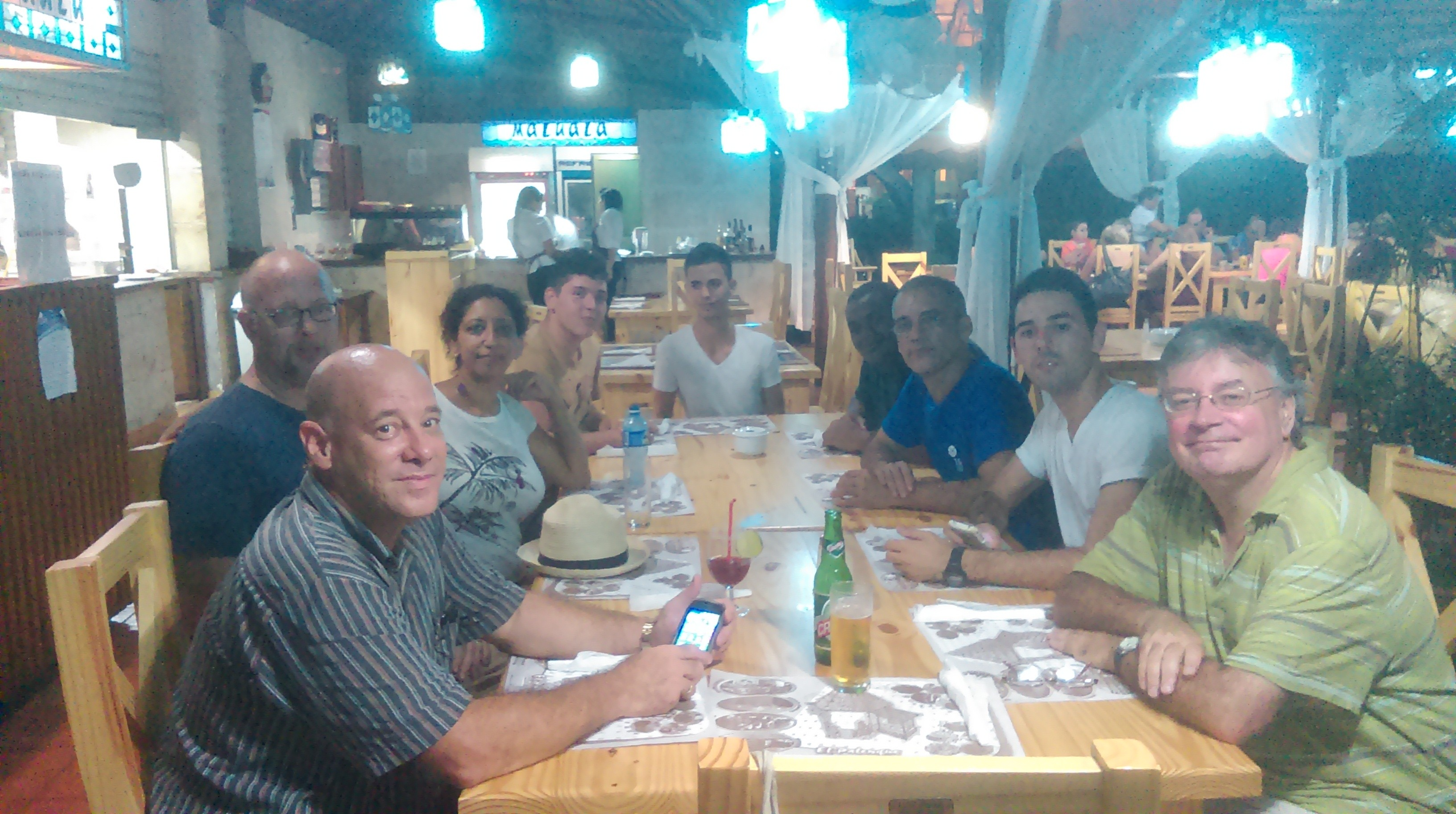 Dinner with our cuban hosts.