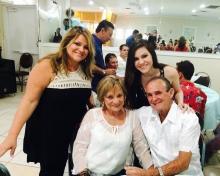 Alina Perez, Jorge y Elaine Fandiño y Erika Perez