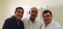 Luis Avellana, Jose R Uzal y Jorge Avellana