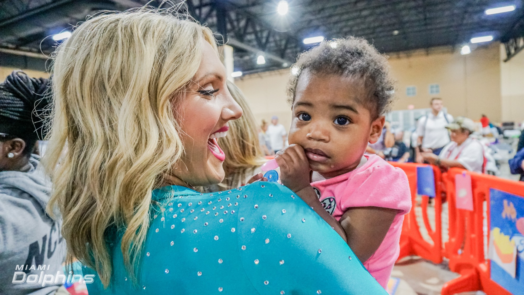Miami Dolphins Cheerleader Jenny at Red Cross Shelter