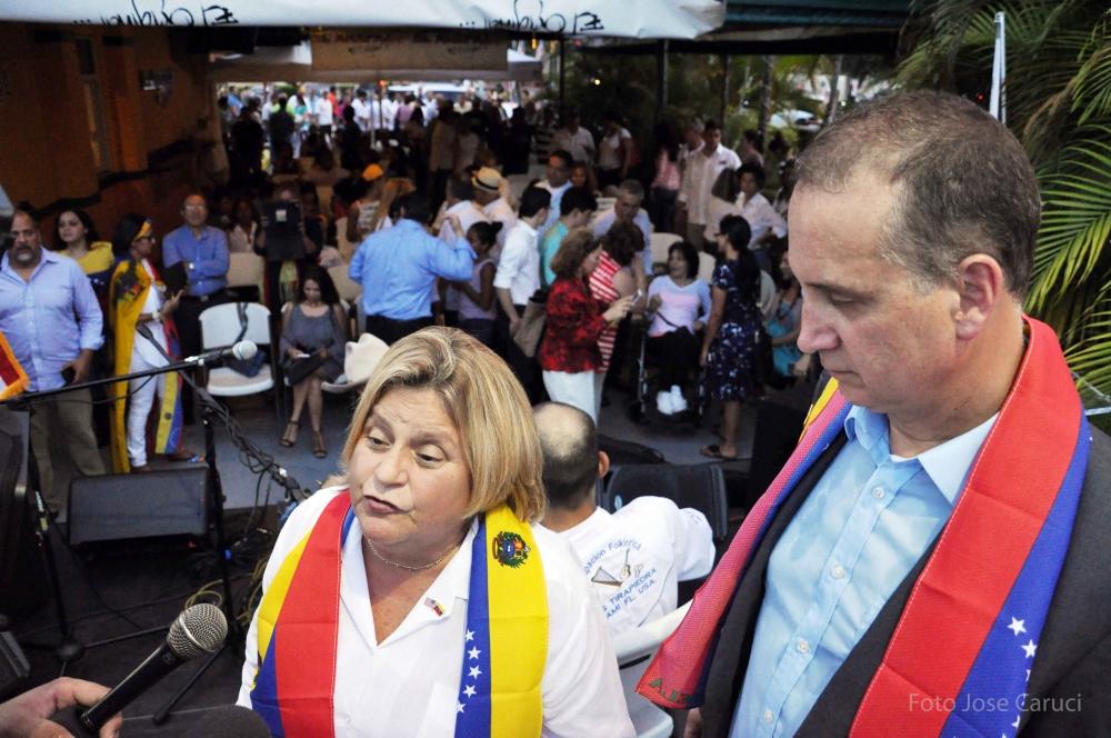 congresitas Ileana Ros-Lehtinen y Mario Diaz-Balart