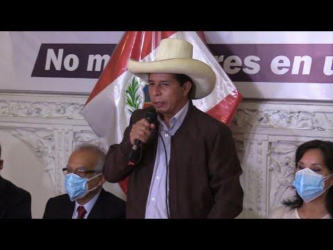 Pedro Castillo rechaza discurso de fraude electoral de Keiko